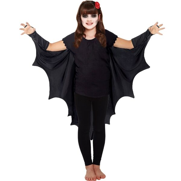Halloween Black Bat Cape for Children