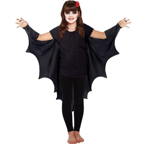 Halloween Black Bat Cape for Children