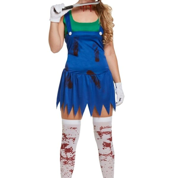 Workwoman Zombie Costume - Green