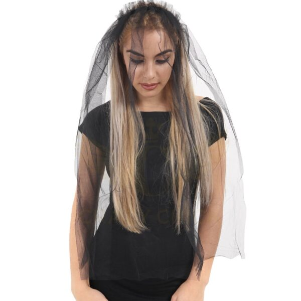 Black Veil on Hair Band for Halloween party costumes fancy dress up