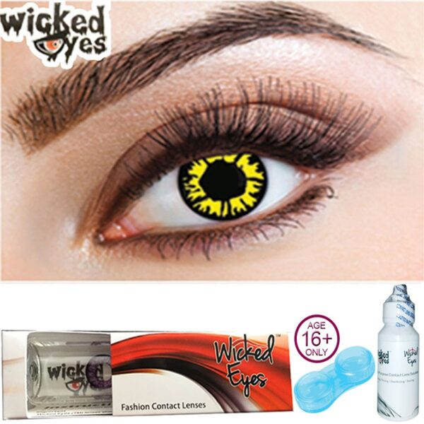 Explosion Yellow Contact Lenses for Halloween