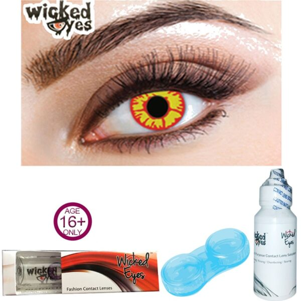 Explosive Flame Contact Lenses for Halloween