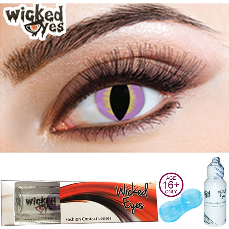 Purple Lizard Contact Lenses for Halloween