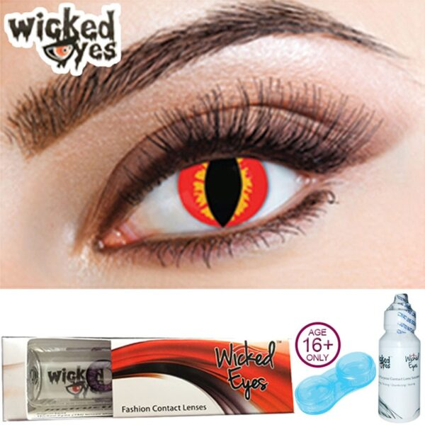 Red Lizard Contact Lenses for Halloween