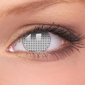 White Mesh Contact Lenses