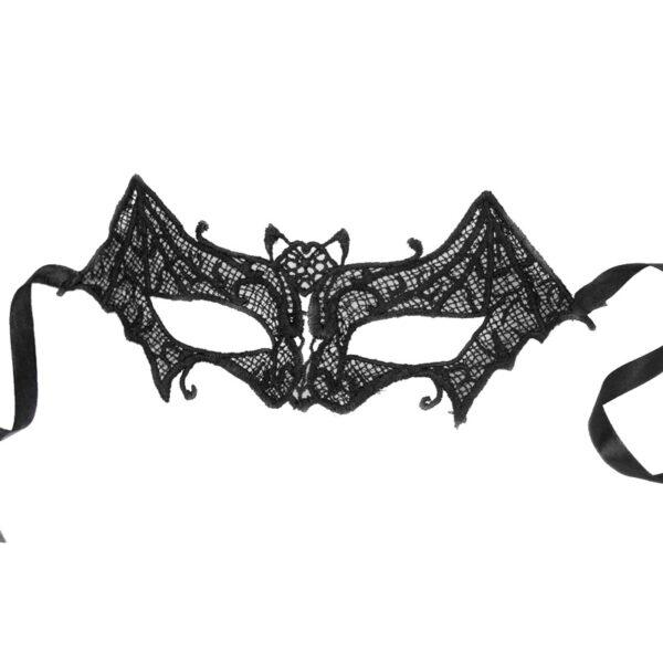 Black Lace Bat Eye Mask for Halloween fancy dress up