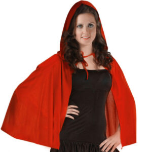 Red Riding Hooded Velvet Cape