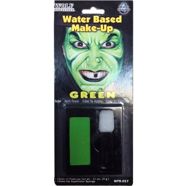 Green Water Based Makeup Face Body Paint for Halloween costumes Evil Witch makeup dress up