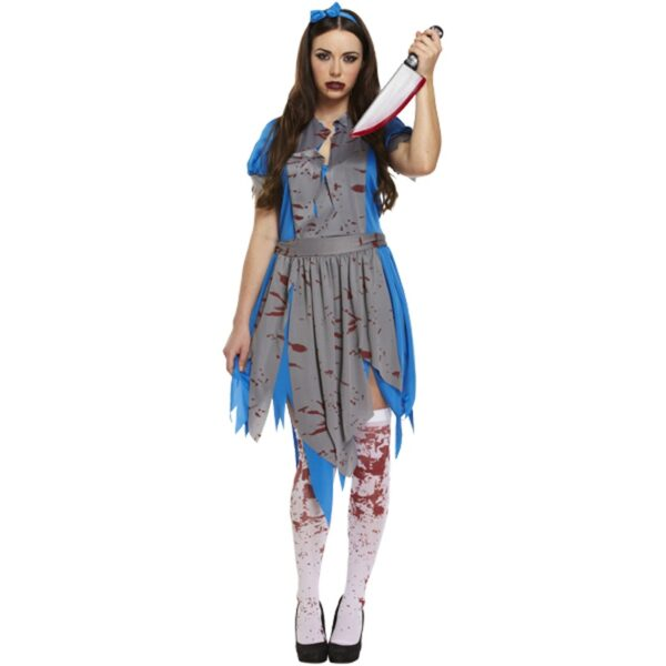 Horror Alice Girl Costume for women Halloween costumes zombie dress up