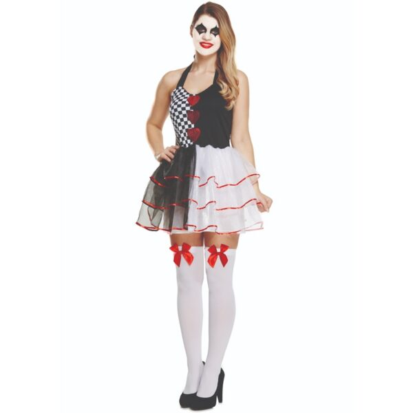 Jester Evil Costume for Women Halloween costumes Clown Joker fancy dress up