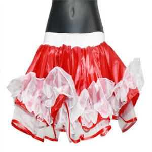 Womens Satin Ruffle TUTU Skirt