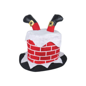 Adult Chimney Hat With Santa Legs