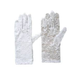 Womens Lace Short Gloves
