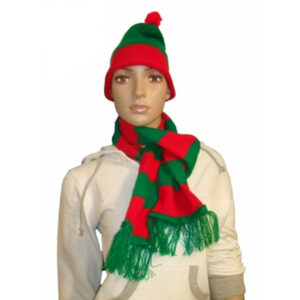 Christmas Green Red Scarf