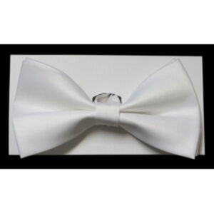 Men's White Bow Tie with Gift Box