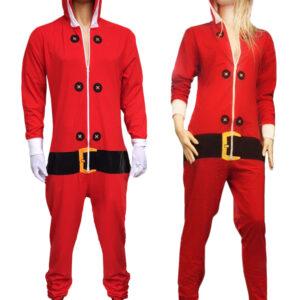 Adult Red Santa Onesie Costume