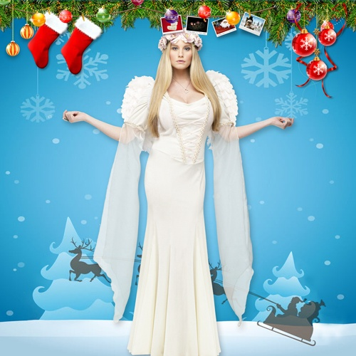 Women's Angel Costume for Christmas Party