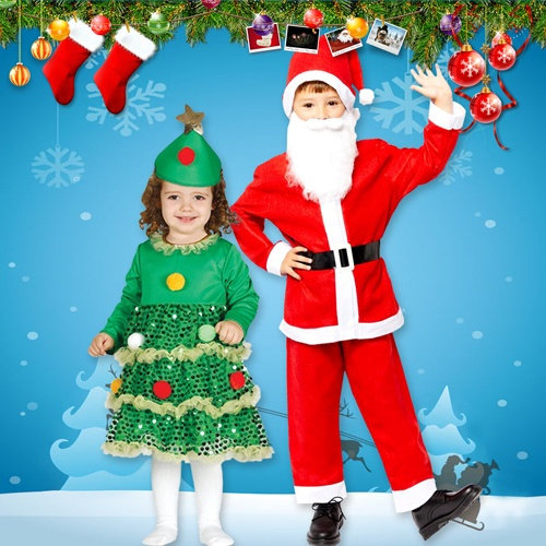 Christmas Costumes for Children, Boys and Girls