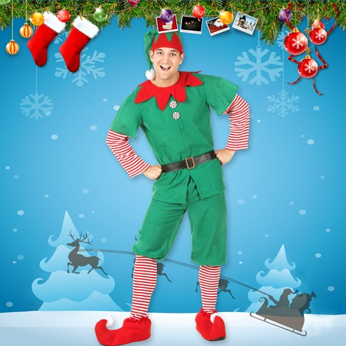 Christmas Elf Costume for Men, Women and Children