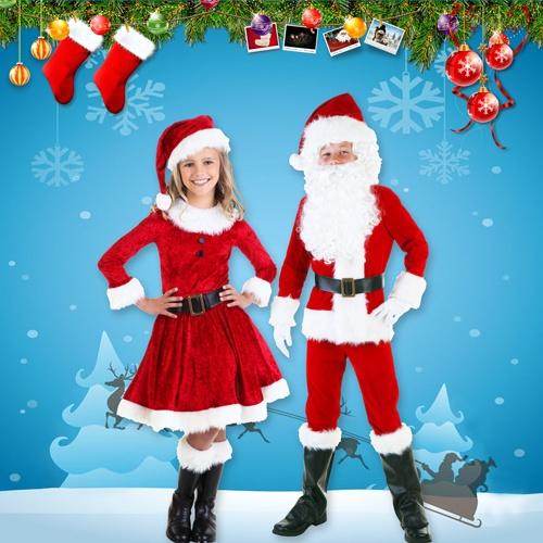 Christmas Santa Costume for Men, Women and Children