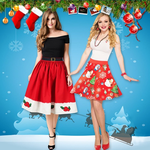 Women Sexy Skirts for Christmas Party