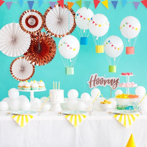 Party Decorations; Buntings, Banners, Tableware, Scene Setters, Hanging Decor and More
