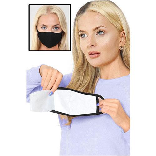 2 Fly Black Cotton Mask