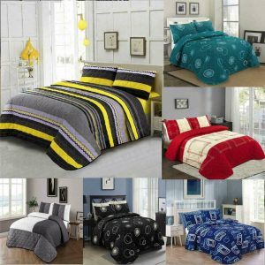 Luxury Quilted Bedspread Pillow Case Set