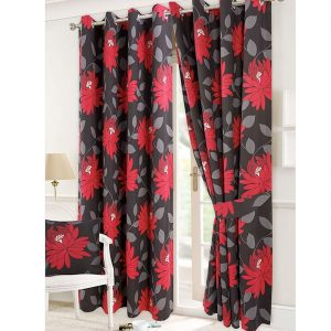 Isla And Seren Flower Panama Curtain And Cushions