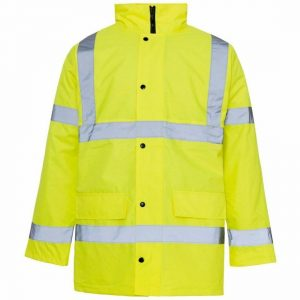 Mens Hi Viz Security 2 Tone Parka Jacket