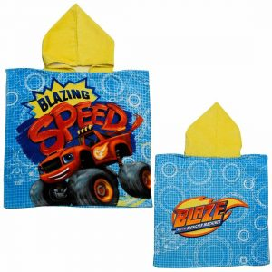 Children Blazing Speed Monster Hooded Poncho