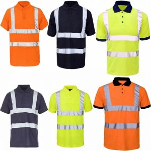 Mens High Visibility Polo T Shirts
