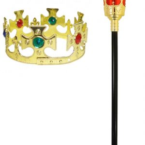 Children Kings Crown And Sceptre Kit