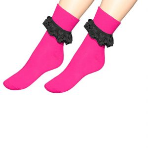 Womens Girls Frilly Ankle Lace Socks