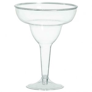 Clear Plastic Margarita Glasses 20 Pcs
