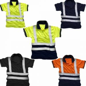 Hi Vis Viz Polo Reflective Tape T Shirt