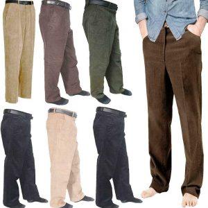 Mens Corduroy Cord Cotton Pants