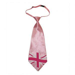 Great Britain Pink Union Jack Jumbo Ties