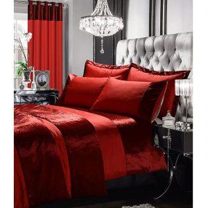 Gran Reno Silk Velvet Duvet Set With Matching Curtains Throws
