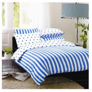 Stripy And Spotty Reversible Duvet Cover Set