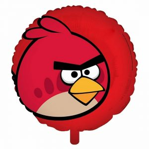Angry Red Bird Foil Balloon