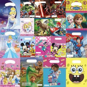 Cartoon Character Print Party Bags 6 Pcs