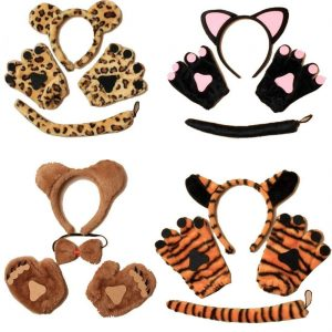 Children Plush Zoo Animal Dress Up Set
