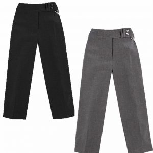 Girls Two Button School Uniform Trouser Pants