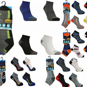 Mens Cushioned Sole Trainer Ankle Socks