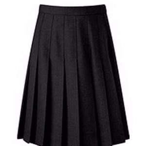 Womens Girls Polyester Top Knife Pleated Uniform Skirt