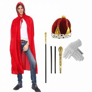 Mens Fancy Dress King Costume Accessory Kit