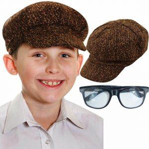 Kids Victorian Flat Cap Sunglasses Set