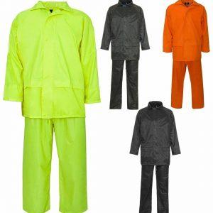 Mens Long Sleeve PVC Rain Suit