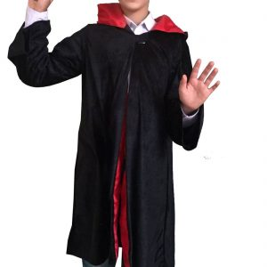 Children Wizard Cape And Magic Wand Set